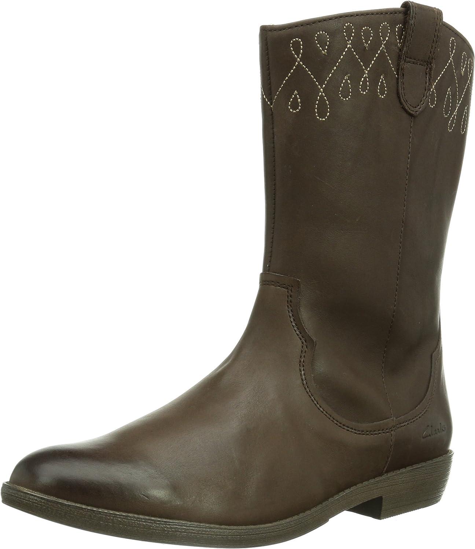 Clarks Biddiedress, Girls' Boots, Brown