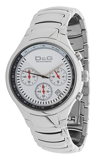 Dolce & Gabbana - Reloj de pulsera hombre, acero inoxidable, color plateado