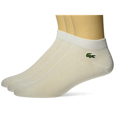 Lacoste Men's 3 Pack Jersey Ped Sock at Men's Clothing store