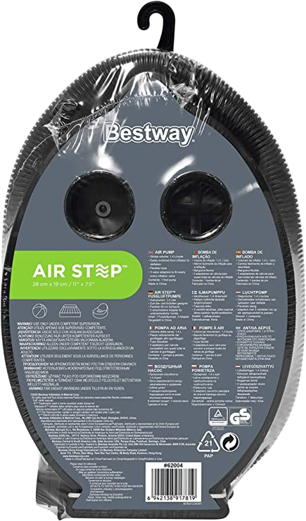 """Bestway Air-Step air foot pump Ideal for airbeds ect FREE UK P/&P 9/"""" x 6/"""""""