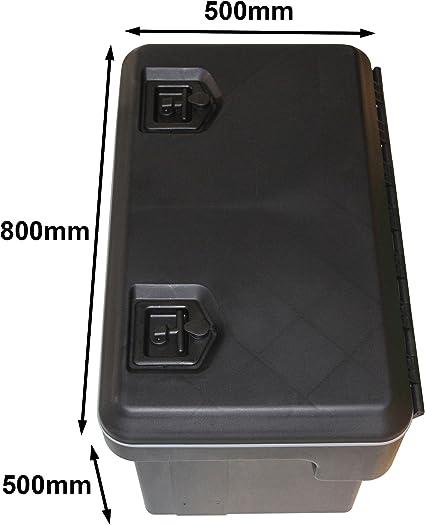 Daken cabv81006/800BP 122 L Bloqueo resistente al aire libre resistente al agua caja de almacenamiento de plástico coche remolque caravana herramientas Truckbox: Amazon.es: Coche y moto