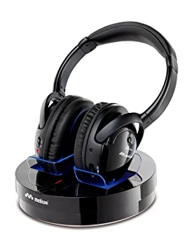 Meliconi HP300 - Auriculares de diadema cerrados (inalámbricos RF, 20 mW, alcance 100 m), negro: Amazon.es: Electrónica