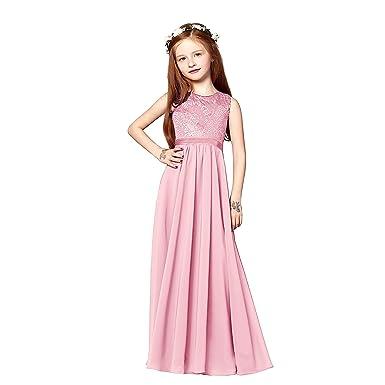 angel fashion Charming Chiffon Princess Flowergirl Party Junior Wedding Bridesmaid Dress 6-14 (J6