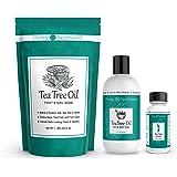 Purely Northwest Foot and Toenail Kit with 16 oz Tea Tree Oil Foot Soak, 9 fl oz Antifungal Tea Tree Oil Foot & Body…
