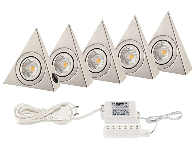 kitchen light cob led under cabinet lights pack of 160 lumens 1 rh amazon co uk