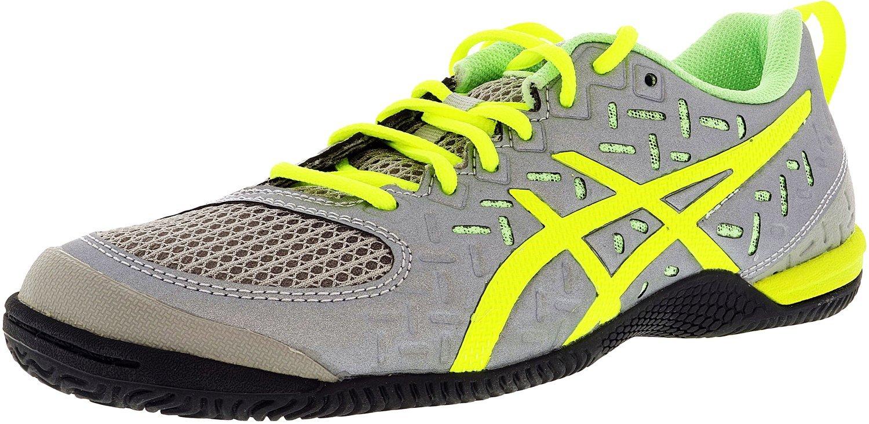 ASICS Women's Gel Fortius TR 2 Training Shoe, Light Grey/Yellow/Pistachio, 9.5 M US