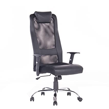 amazon com vanbow high back mesh office chair adjustable arms