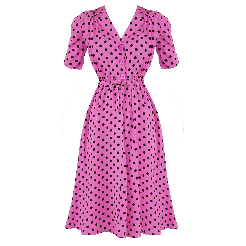 The Seamstress Of Bloomsbury 1942 Vintage 40s WW2 Designer Jive Tea Dress Excellent Quality