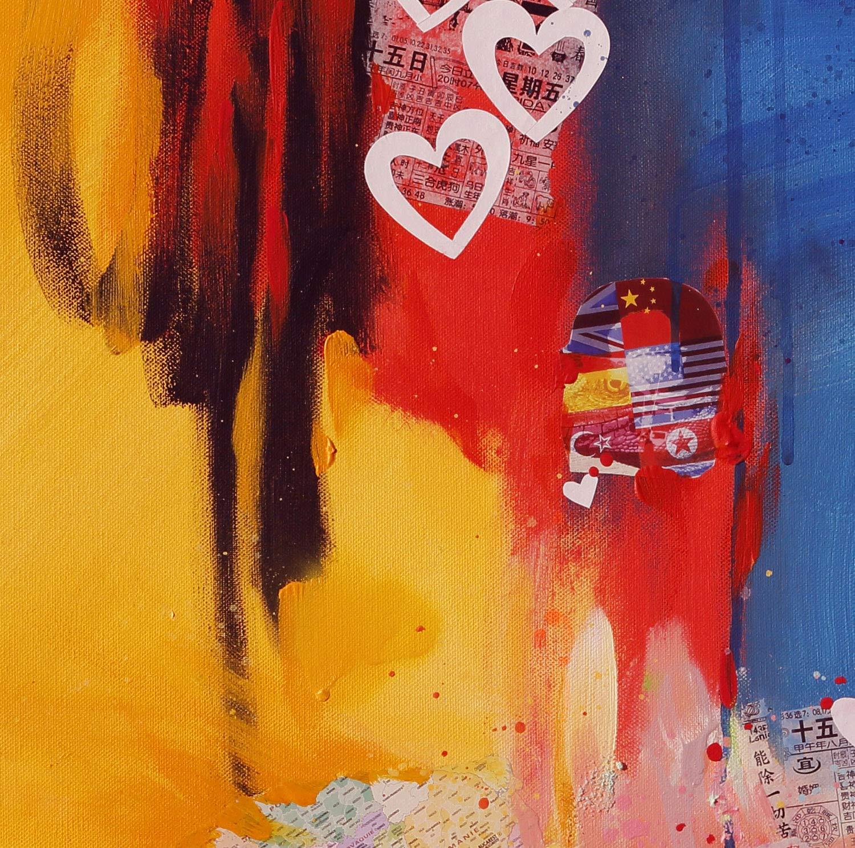 Reproducción de arte - Make love happen - sobre papel de acuarela ...