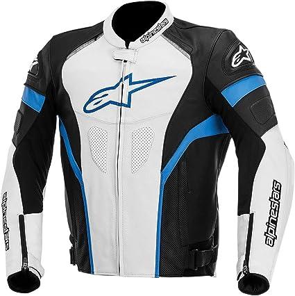 Alpinestars GP Plus R Leather Mens Riding Jacket (Black/White/Blue, Size