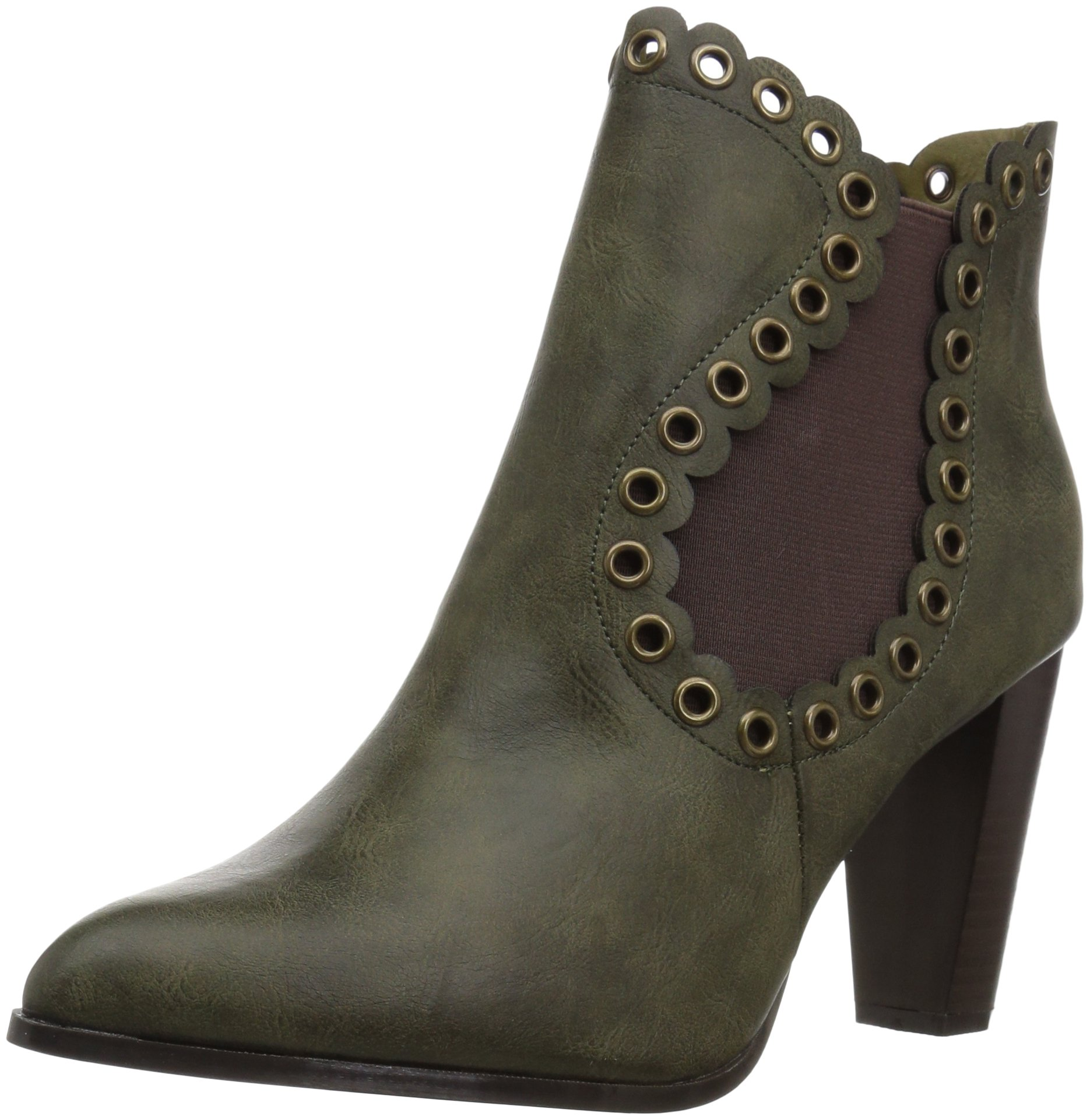 Penny Loves Kenny Women's Arena Ankle Bootie, Green, 10 M US