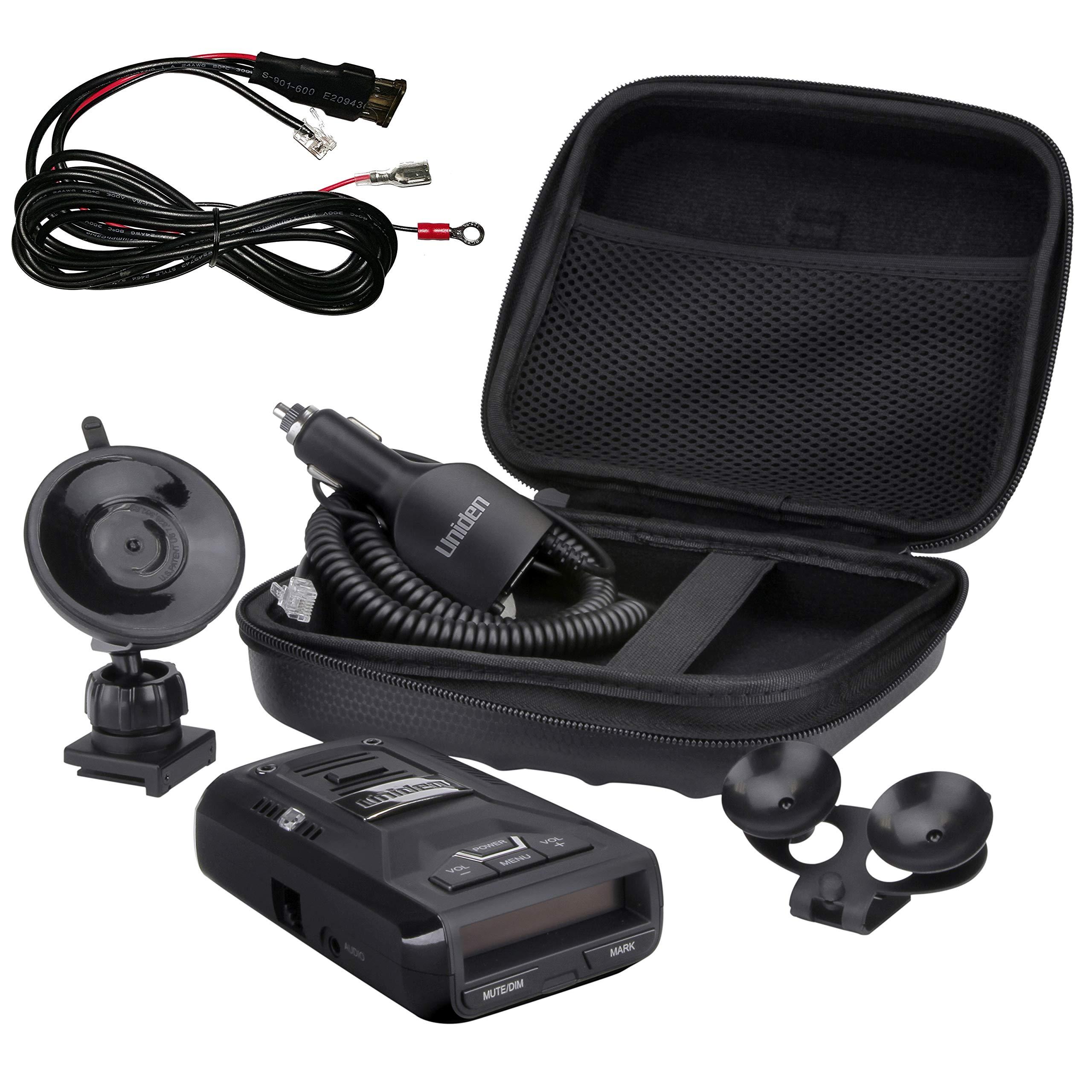 Uniden R3 Extreme Long Range Radar Laser Detector GPS, 360 Degree, DSP, Voice Alert Plus Hard Wire Kit