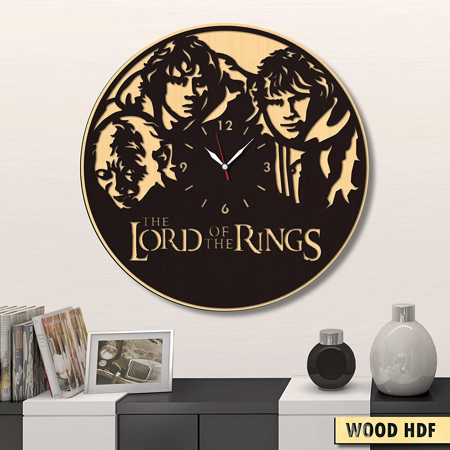 Lord of The Rings Vinyl Clock Best Gift for Fans Lord of The Rings Lord of The Rings Wall Clock Original Wall Home Decor