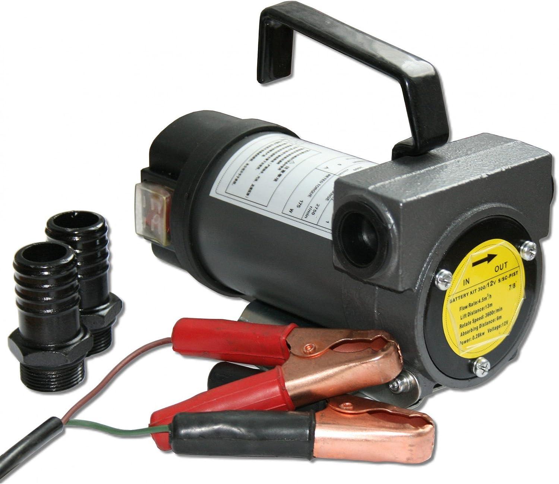 Diesel/öl /& Heiz/öl Selbstansaugende Dieselpumpe 12V mit 40l//min 2m Ansaugh/öhe