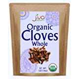 Jiva Organics Organic Cloves Whole 1 Pound Bulk Bag - 100% Natural & Non-GMO