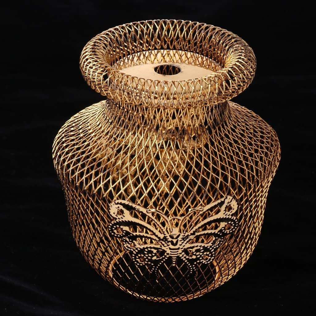Gold F Fityle Eisen Nachttischlampe Moderne Lampenschirm Schreibtisch Stehlampe F/ür Wohnzimmer Schlafzimmer B/üro