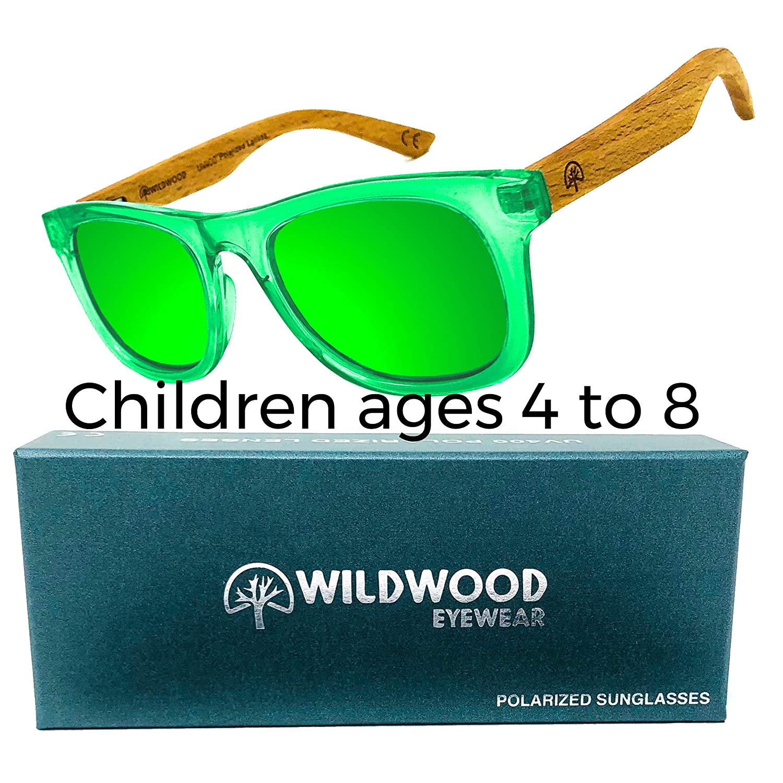 Kids Wayfarer Beech Wood Polarized Sunglasses by Wildwood - 4 to 8 years Wildwood Eyewear