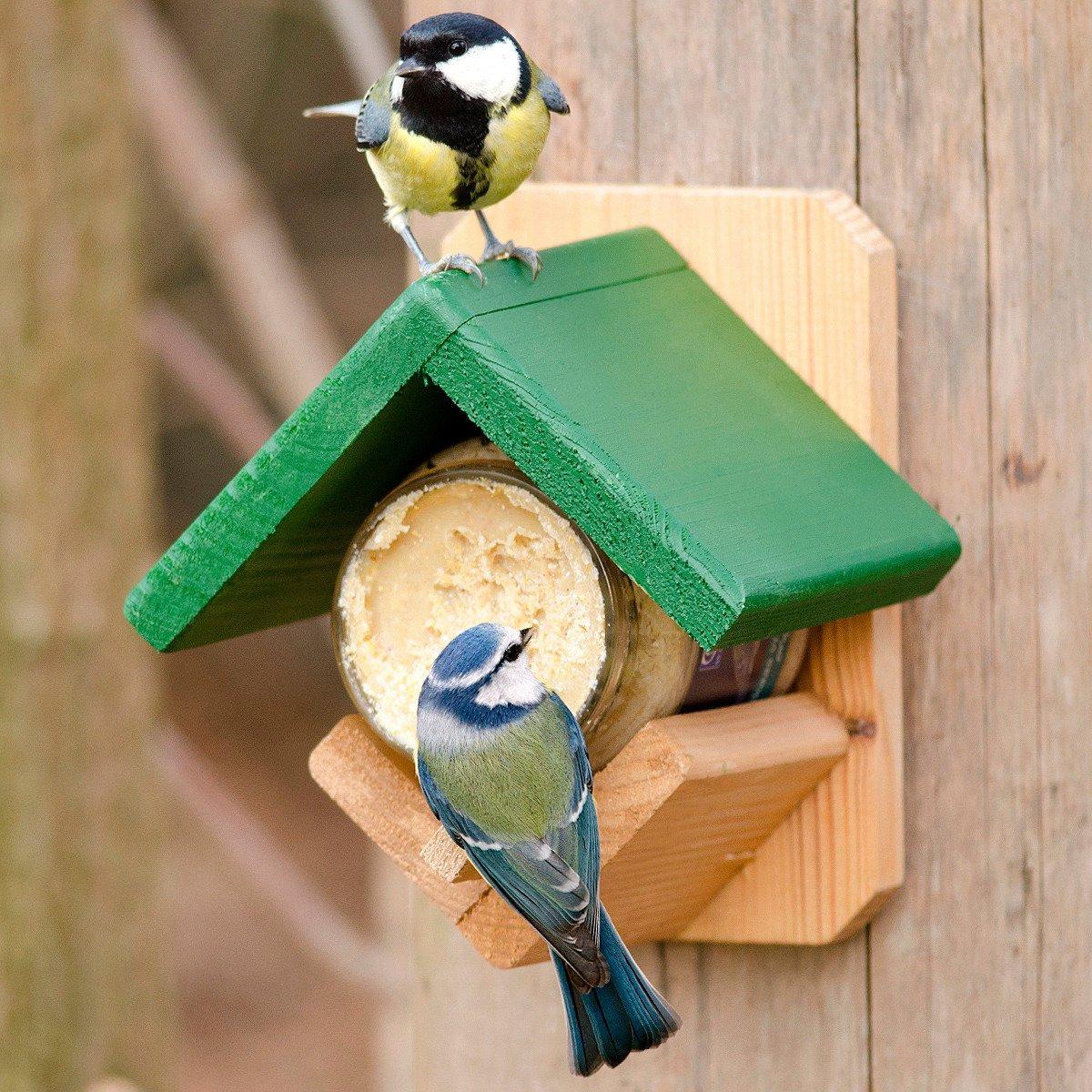Gärtner Pötschke Futterhäuschen für Erdnussbuttergläser