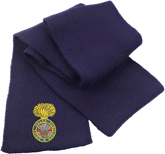 Royal Welch Fusiliers Heavy Knit Scarf