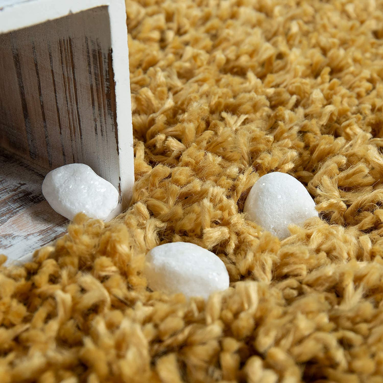 tama/ño:70x250 cm Alfombra Pelo Largo Amarilla Sal/ón Shaggy Suave Resistente Mullida Robusta