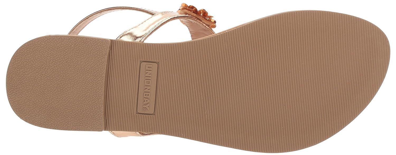 Rose Gold UNIONBAY Womens Ella Flat Sandal M075 M US