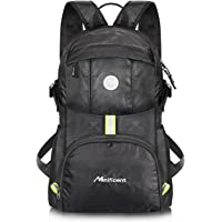 Manificent Lightweight Packable Travel Hiking Backpack (Black)