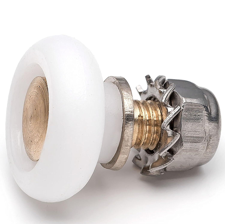 2 x Shower Door Rollers/Runners/Wheels 16mm Diameter L013