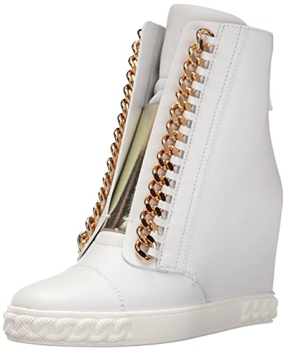 441901f372e Casadei Women's Rock Sneaker Wedge Fashion, White, 36 EU/6 ...