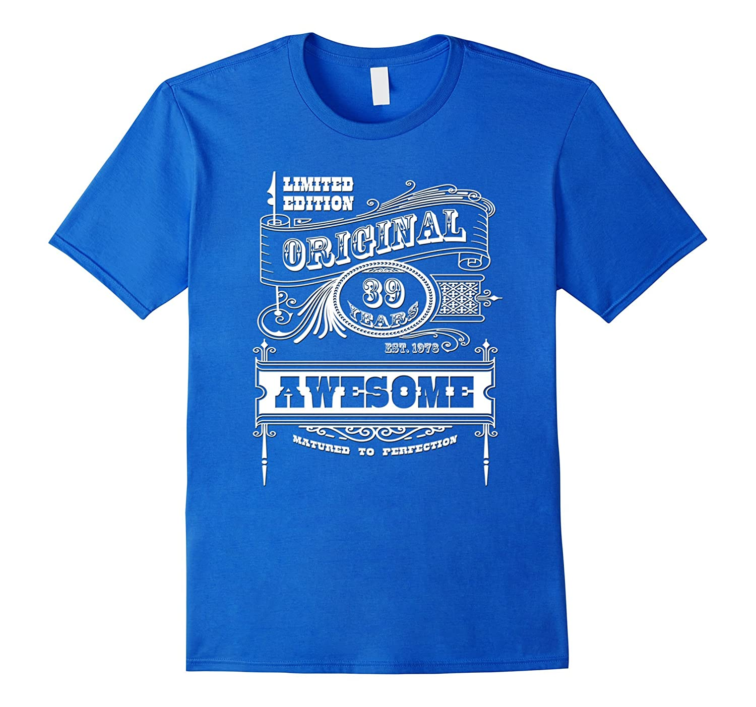 Best 39th Birthday Made in 1978 Awesome T-Shirt Gift Idea-Vaci