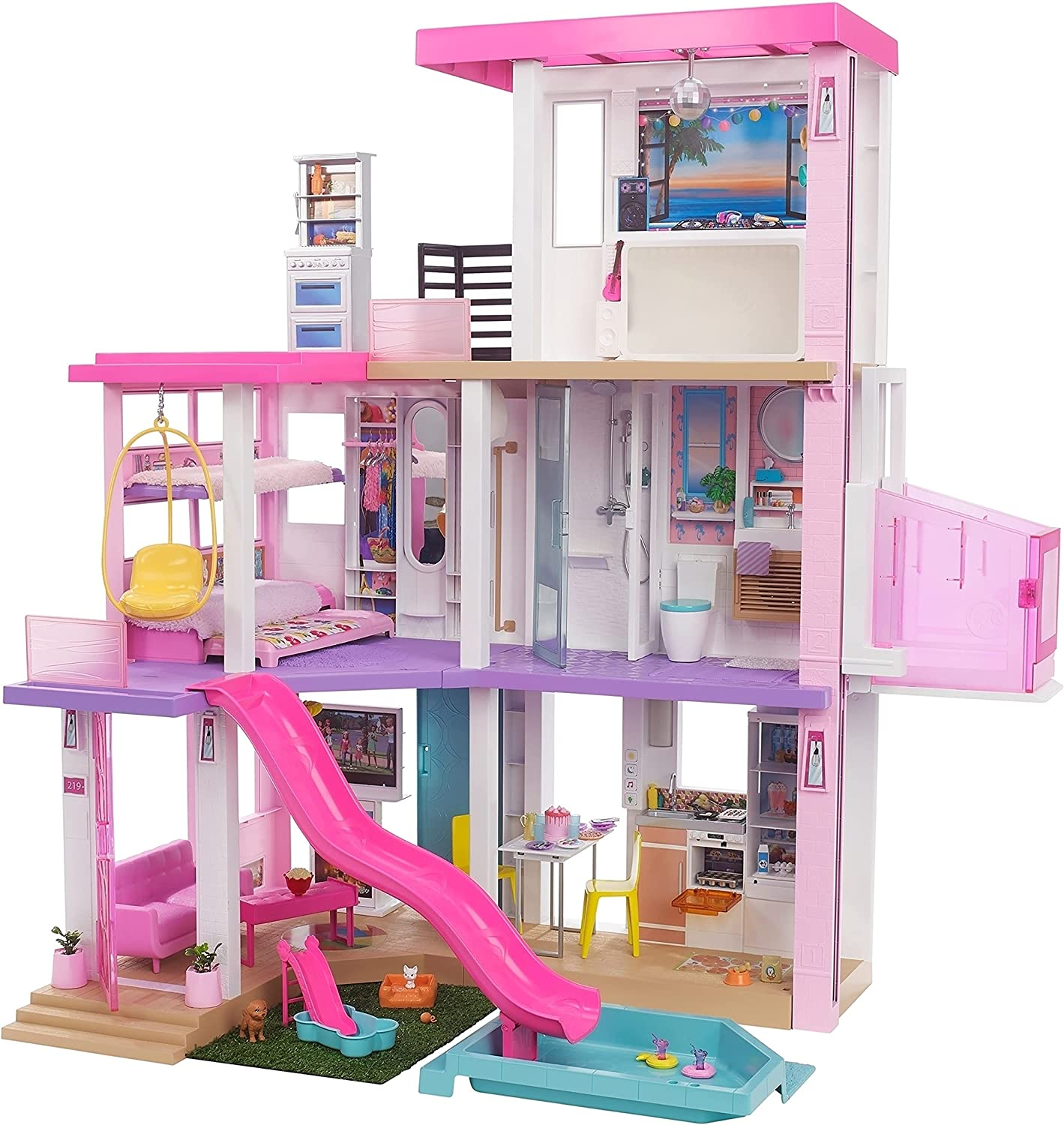 Barbie Dreamhouse 3.75-ft Low price 3-Story with Playset Pool We OFFer at cheap prices Dollhouse