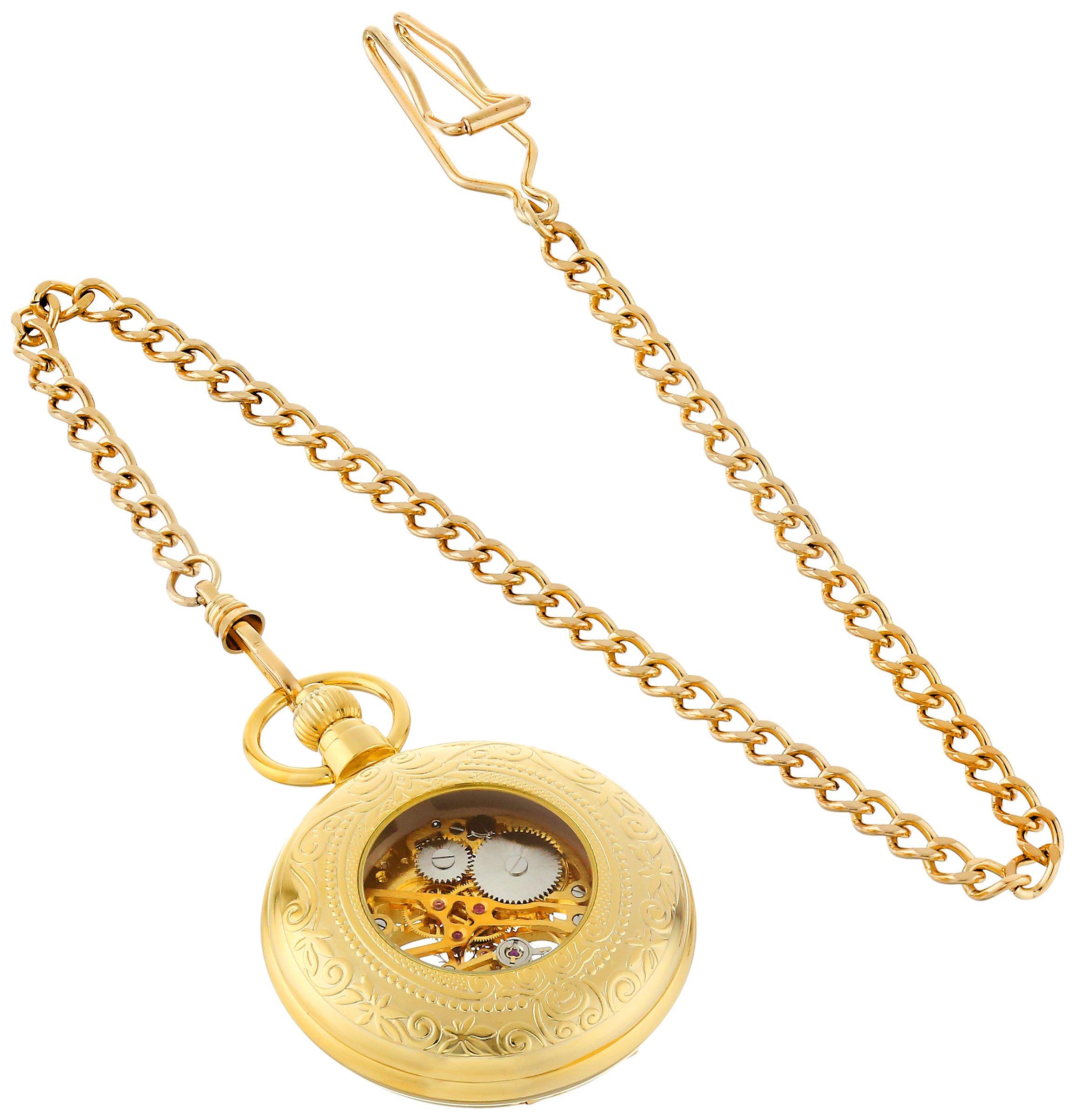 Charles-Hubert, Paris Gold-Plated Mechanical Pocket Watch by CHARLES-HUBERT PARIS (Image #2)