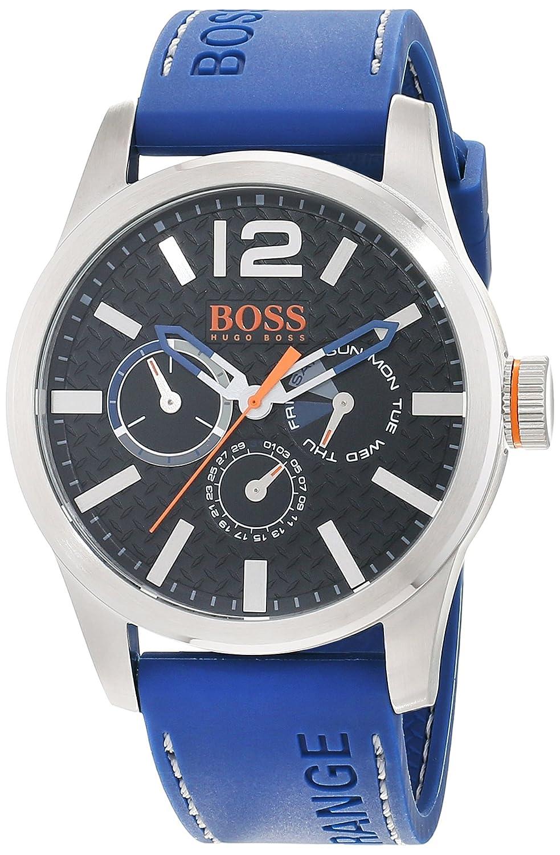 Hugo Boss Orange 1513250 - Reloj de pulsera analógico para hombre (correa de silicona, esfera con subdiales)