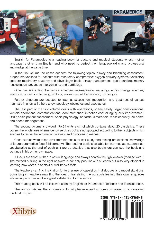 English for Paramedics: Case Studies: Irena Baumruková ...
