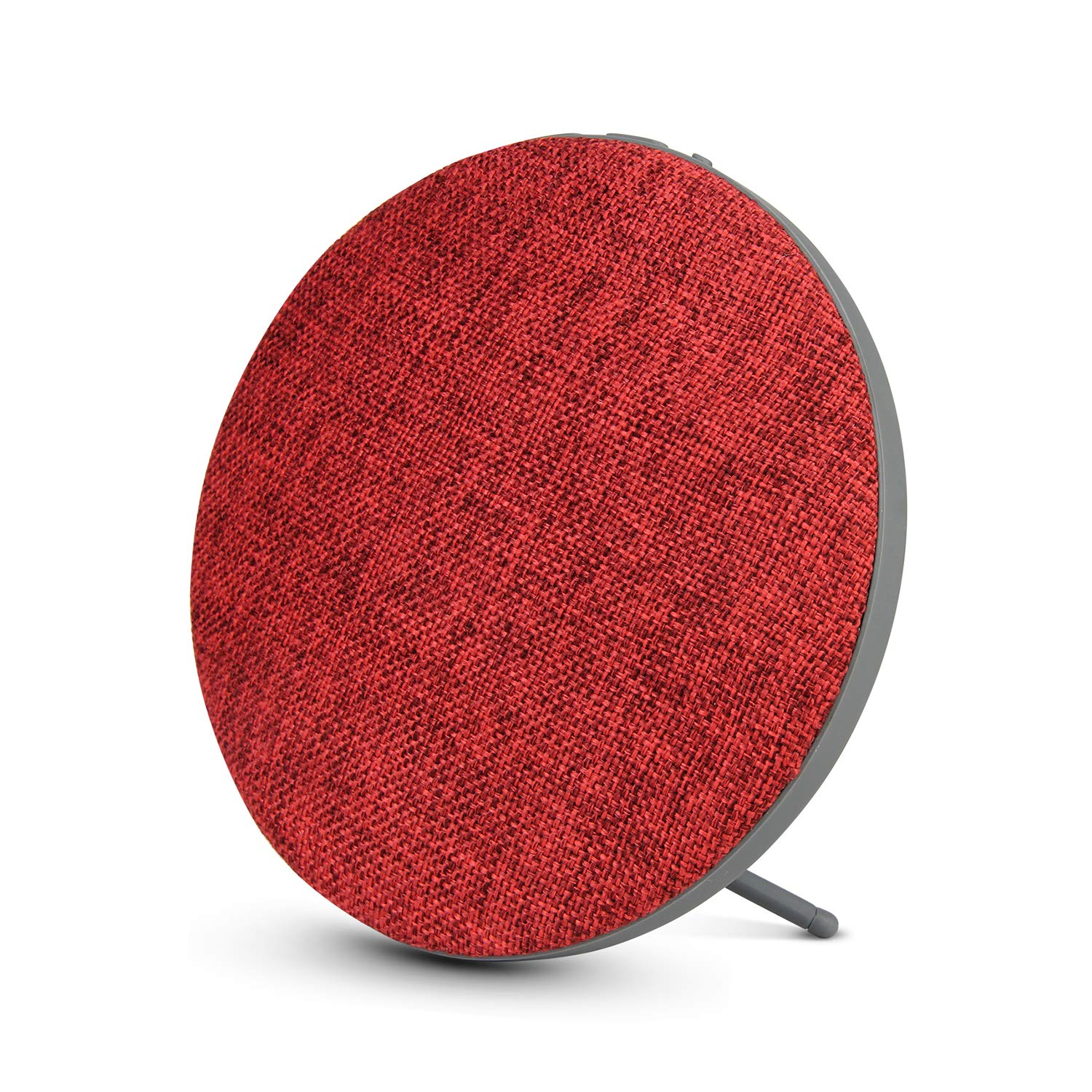 Portable Wireless Bluetooth Speaker with High Sound Quality,Bookshelf Desktop Fabric Speakers, Loud Volume,Rich Bass,Microphone,Hands-Free Calling,AUX Input,Suitable for Indoor&Outdoor(Red) by VOISECRET
