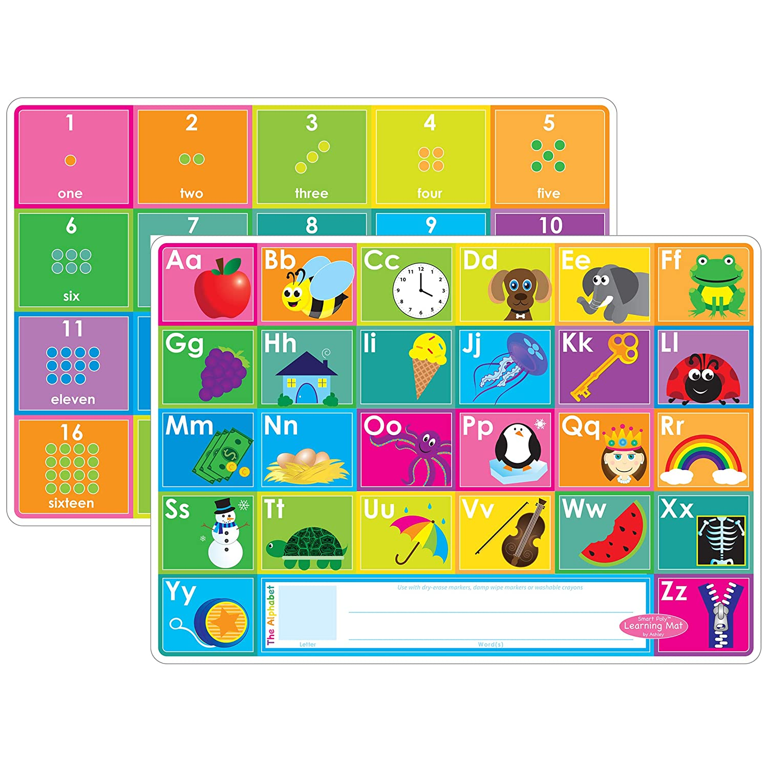 Multiplication Polypropylene //Paper PP 12 x 17 Ashley Productions ASH95006 Smart Poly Learning Mat