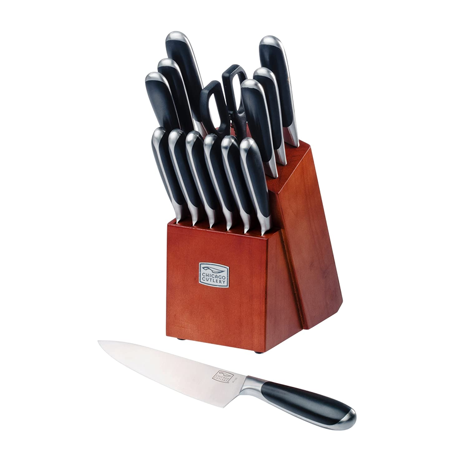 Chicago Cutlery Belden High-Carbon Stainless Steel Knife Block Set (15-Piece)