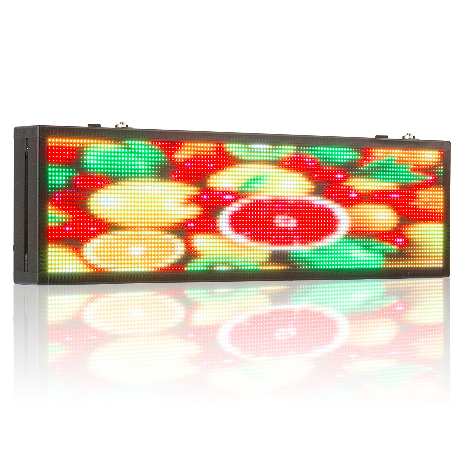 Leadleds 26 Inches P5 SMD RGB Full Color Advertising LED Billboard, Scrolling Text, Video, Images by PC Software and USB Programmable Indoor LED Sign Message Board