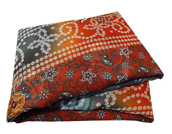 grosses soldes grande remise pour acheter de nouveaux PEEGLI Nouveau Bandana Saree Indien Traditionnel Robe Femmes ...