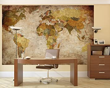 Amazon lb prepasted wall mural foto wall decor world map 827 lb prepasted wall mural foto wall decor world map 827 inch 555 inch gumiabroncs Choice Image
