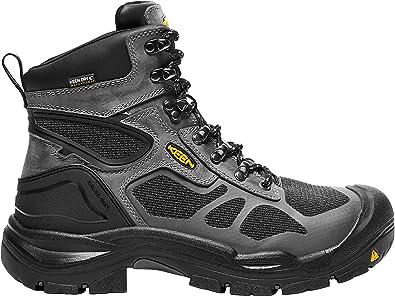 """KEEN Utility Men's Concord 6"""" Waterproof Steel Grey/Black 12 2E US"""