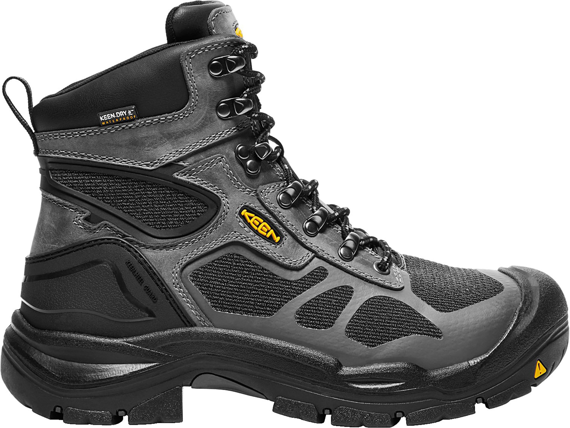 KEEN Utility Concord 6'' WP (Steel Toe), Men's Waterproof Work Boot, Steel Grey/Black, 8.5 EE by KEEN Utility
