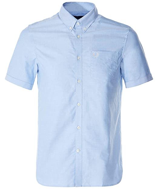 Fred Perry Hombres Camisa Oxford clásica Manga Corta m3531 ...