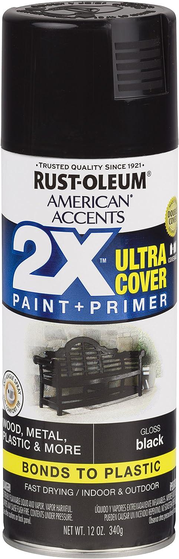 Rust-Oleum 327870 American Accents Spray Paint, 12 Oz, Gloss Black