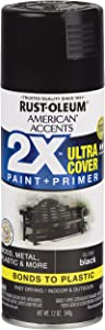 Rust-Oleum 327870 American Accents Spray Paint, 12 Oz, Gloss Black