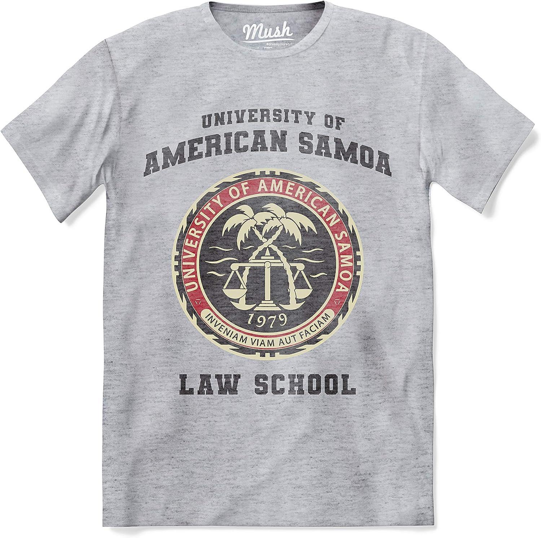Mush - Camiseta de hombre divertida Better Call Saul – University of American Samoa Law School – Serie TV Netflix – 100% algodón orgánico