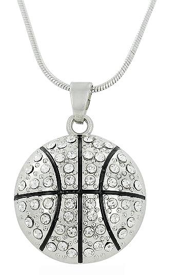 d95b6e22b71 Lemegeton Basket-Ball Charm Pendentif en Cristal Collier Sports Ventilateur  Bijoux