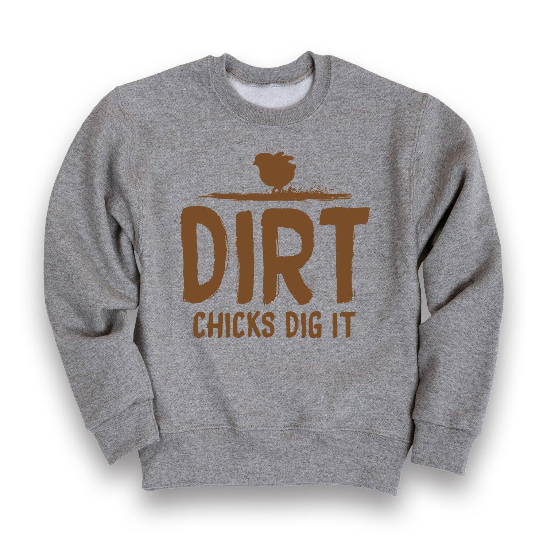 Instant Message Dirt Chicks Dig It-Toddler Crew Fleece