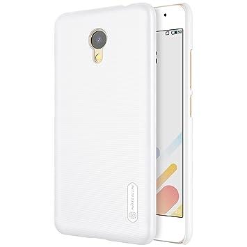 Funda® Firmness Smartphone Funda Carcasa Case Cover Caso + 1 Pantalla Protector para Meizu M5C(Blanco): Amazon.es: Electrónica