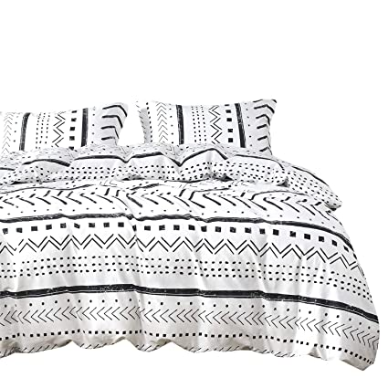 b88b76f01fec7 Amazon.com: Wake In Cloud - Aztec Duvet Cover Set, 100% Cotton ...