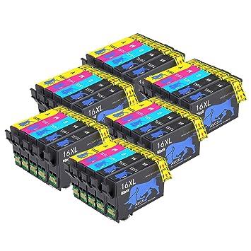 Abcs Printing Reemplazo para Epson t16 16 xl Cartuchos de Tinta Alta Capacidad Compatible para Epson Workforce WF-2510WF WF-2630WF WF-2530WF ...